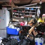 storing goods in a garage before moving